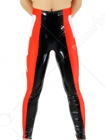 Red Black And White PVC Pants