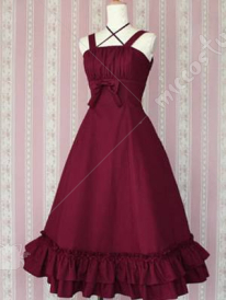 Red Bottom Ruffles Lolita Dress