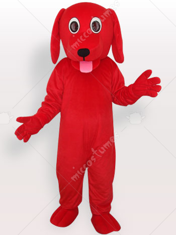 Red Dog Short Plush Adult Mascot Costume