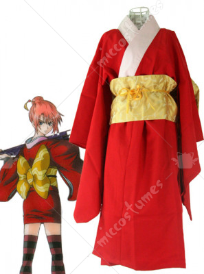 Red Gintama Kagura Cosplay Costume