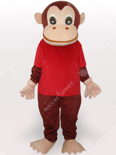Red Gorilla Adult Mascot Costume