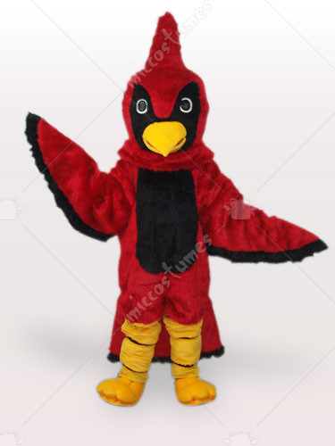 Red Hawk Short Plush Adult Mascot Costume