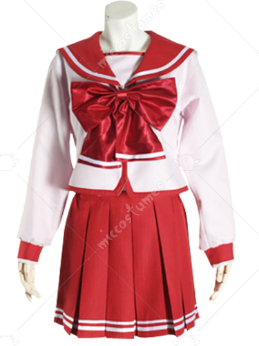 Red Long Sleeves School Uniform