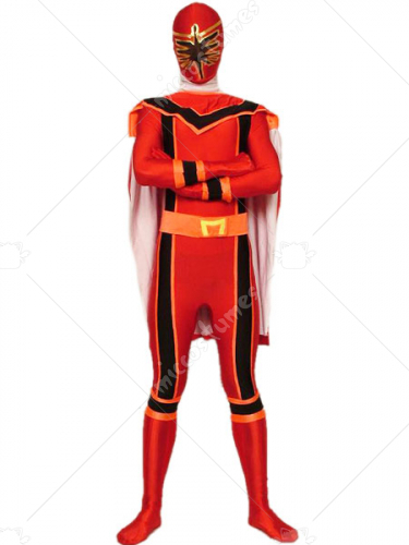 Red Lycra Spandex Super Hero Zentai Suit