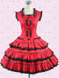 Red Multi Tiers Lolita Dress