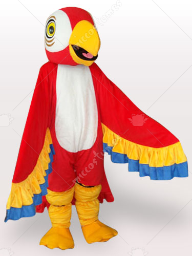 Red Parrot Adult Mascot Costume