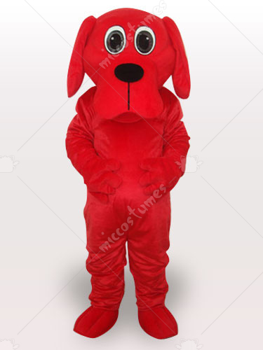 Red Rooney Dog Adult Mascot Costume