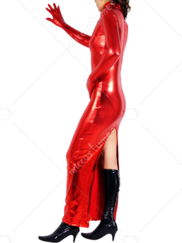 Red Shiny Metallic Catsuit