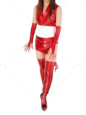 Red Shiny Metallic Sexy Costume