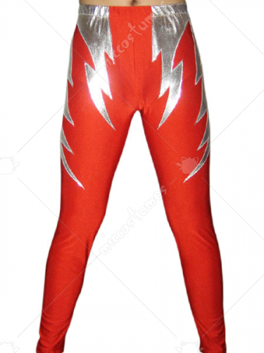 Red Silver Spandex Pants
