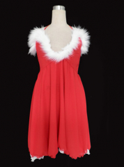 Red women dress Christmas cosplay costume