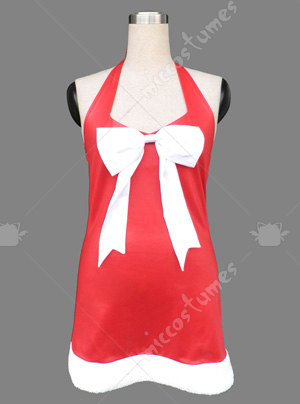 Red Women Short Christmas Cosplay Costume