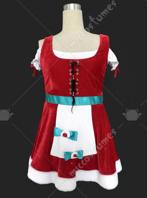 Red women skirt Christmas cosplay costume