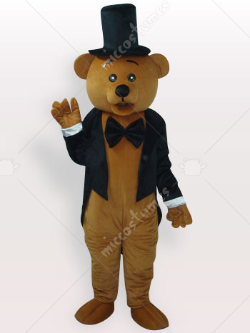 Ritual Bear Short Plush Adult Mascot Costume