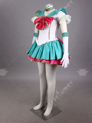 Sailor Moon Jupiter Kino Makoto Cosplay Costume Stage Musical Version