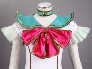 Sailor Moon Jupiter Kino Makoto Cosplay Costume Stage Musical Version