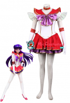 Sailor Moon Mars Hino Rei Cosplay Costume New Version