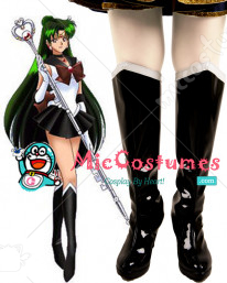 Sailor Moon Meiou Setsuna Sailor Pluto Cosplay Boots