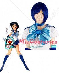 Sailor Moon Mercury Ami Mizuno Cosplay Wig