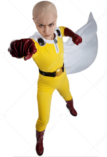 One Punch Man Saitama Cosplay Costume Including Boots Cover