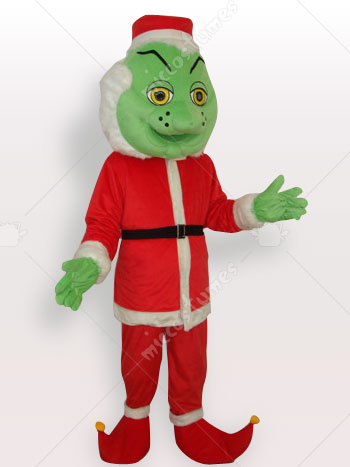 Santa Claus Monster Short Plush Adult Mascot Costume