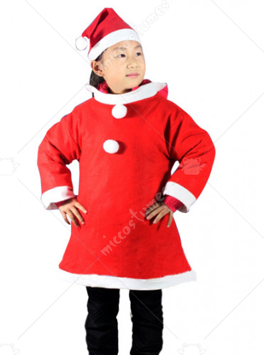 Santa Suit Costume For Girl