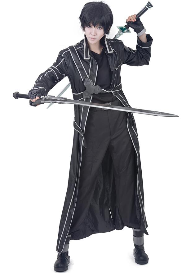 Premium Sword Art Online Kirito Cosplay Leather Kostüme