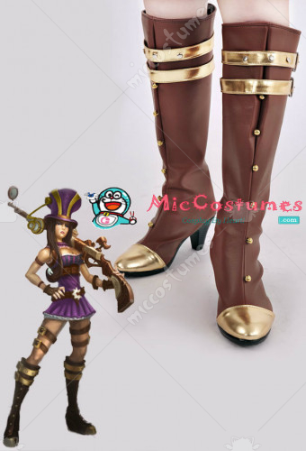 League of Legends Sheriff of Piltover Caitlyn Cosplay Boots