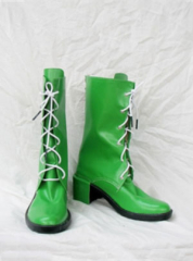 Shiny Green Sailor Moon Kino Makoto Cosplay Shoes Boots