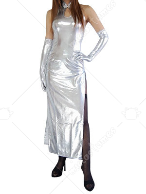 Silver Shiny Metallic Sexy Dress