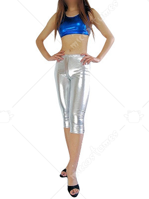 Sleeveless Shiny Metallic Suit