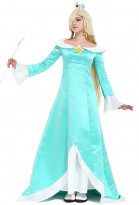 Women's Galaxy Rosalina Cosplay Costume Including Crown and Earrings