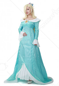Women's Galaxy Rosalina Cosplay Costume Including Crown,Wand,Earings And Crinolette
