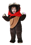 Kids Bear Costume Mascot with Scarf For Baby