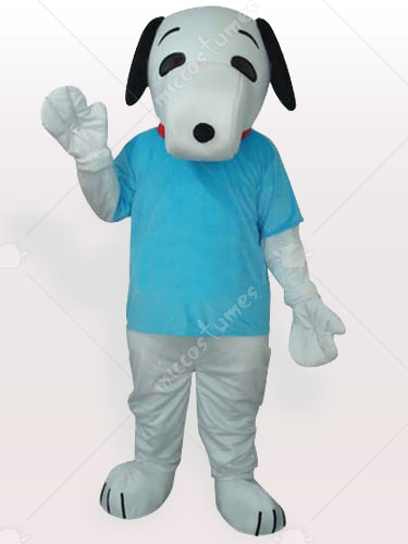 Snoopy In Blue T shirt Adult Mascot Costume