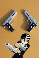Soul Eater Death the Kid Cosplay Pistols Double Team Demon Guns