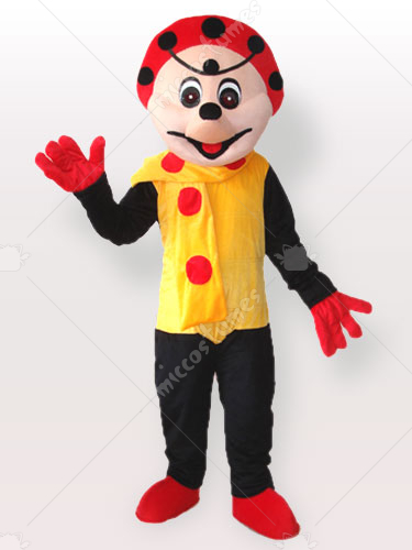 Spotty Clown in Yellow Dress Adult Mascot Costume