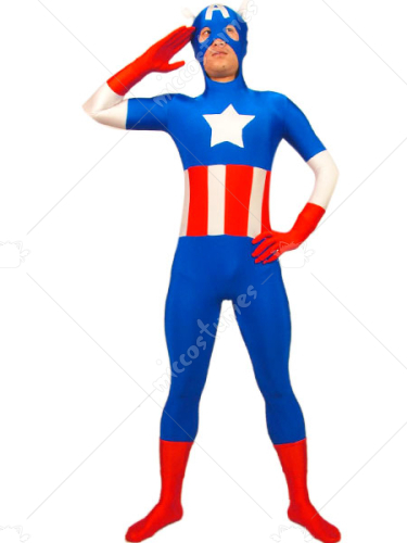 Stars And Stripes Pawn Spandex Zentai Suit