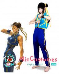 Street Fighter Alpha 3 Chun Li Cosplay Costume