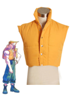 Street Fighter Charlies Padded Vest Cosplay Costume