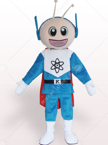Super Man Short Plush Adult Mascot Costume