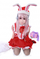 Super Sonico Christmas Cosplay Costume
