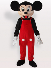 Suspender Trousers Micky Short Plush Adult Mascot Costume