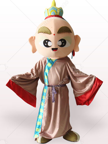 Tang Monk Short Plush Adult Mascot Costume