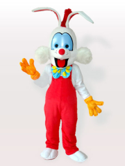 The Droll Clown Bunny Adult Mascot Costume