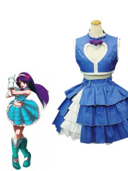 The King of Fighters Athena Asamiya Blue And White Cosplay Costu