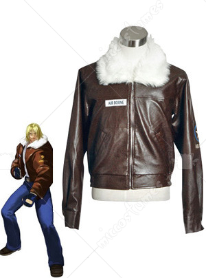 The King Of Fighters Terry Bogard Brown Leather Jacket