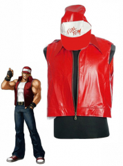 The King of Fighters Terry Bogard Classic Red Jacket With Hat