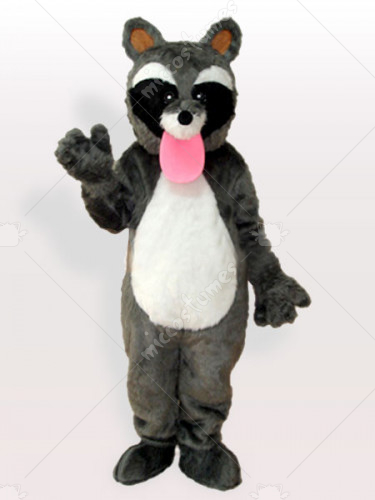 The Pink Tongue Raccon Adult Mascot Costume