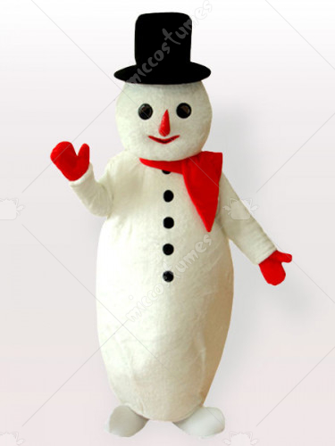 The Potbelly Snow Man Adult Mascot Costume